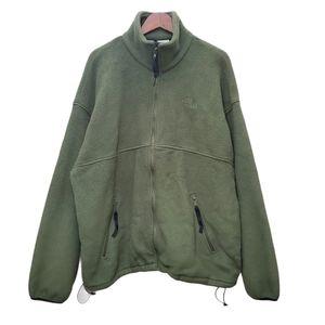 The North Face Full Zip Fleece Jacket Green XXL